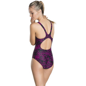 speedo Boom Allover Swimsuit Women pink/black